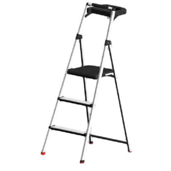 Rubbermaid® RMA-3T UltraLight Aluminum Stepstool with Tray, 3-Step, 225 Lbs