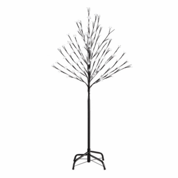 Holiday Wonderland® X99615 Cherry Blossom Tree w/ 100 Pure White LED Lights, 4'