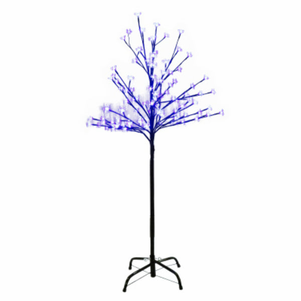 Holiday Wonderland XDHK32529A Cherry Blossom Tree w/ 100 Blue LED Lights, 4'