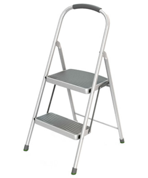 Rubbermaid® RMS-2 Two-Step Steel Stool with Cushioned Grip