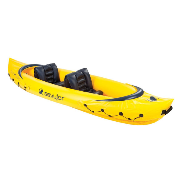 Sevylor® 2000014125 Tahiti™ Classic Inflatable 2-Person Kayak, Yellow, 124""