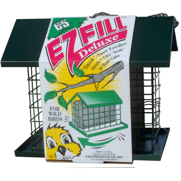 C&S® 750 E-Z Fill™ Deluxe Snak/Suet Feeder with Roof Plus Platform