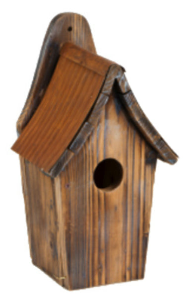 Heritage Farms HF31790 Rustic Bluebird House with Metal Roof