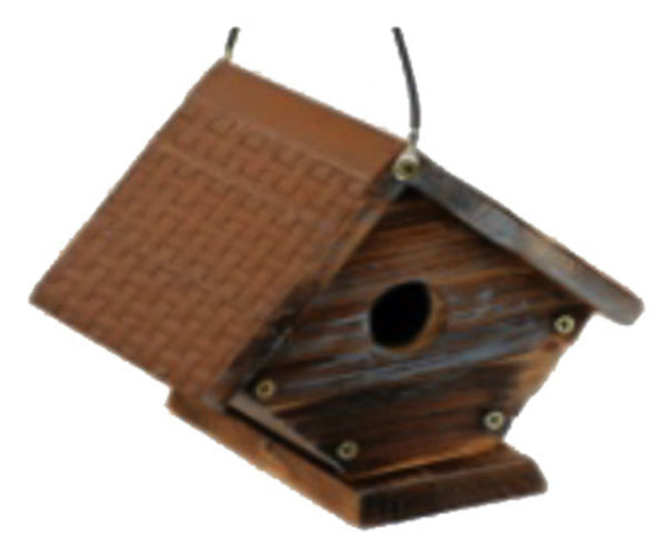Heritage Farms HF31644 Rustic Wren Bird House with Metal Roof
