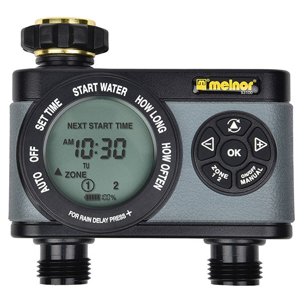 Melnor® 33100 HydroLogic® Advanced Electronic Water Timer, 2-Zone