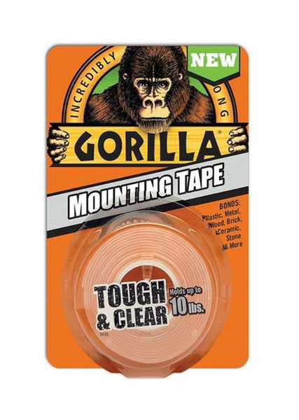 "Gorilla® 6065003 Double-Sided Tough & Clear Mounting Tape, 1"" x 60"""