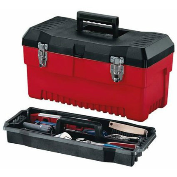 "Stack-On® PR-19 Professional Tool Box with Steel Draw Bolts, 19"", Black/Red"