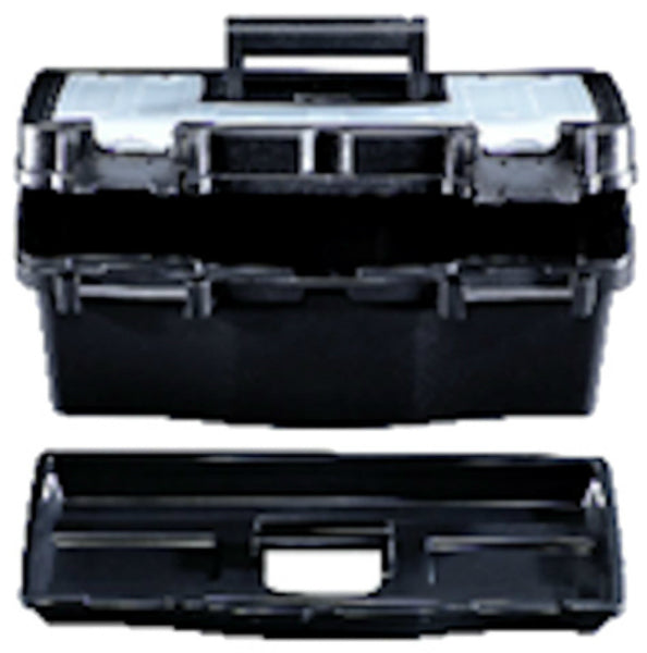 Stack-On® PTB-12LS Plastic Tool Box, Black, 12""