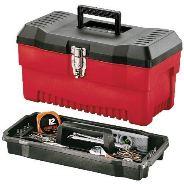 "Stack-On® PR-16 Professional Tool Box with Steel Draw Bolts, 16"", Black/Red"