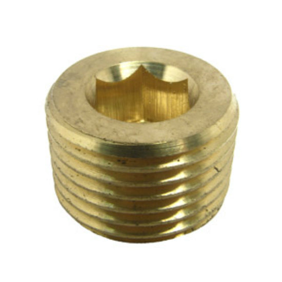 "Lasco 17-9197 Lead Free Brass Countersunk Plug, 1/2"" MPT"