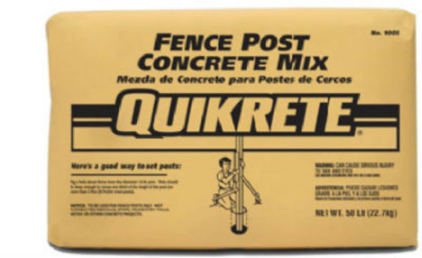 Quikrete® 100450-RDC13 Fence Post Concrete Mix, 50 Lbs