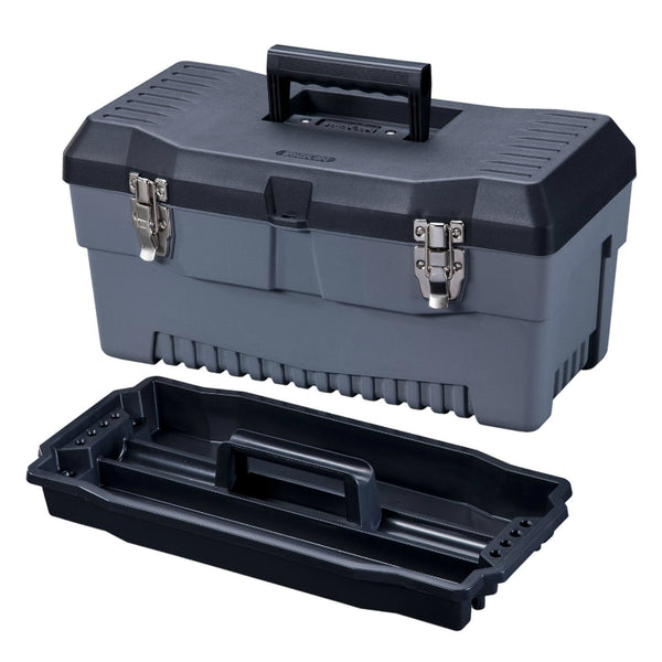 "Stack-On PB-19 Professional Multi-Purpose Tool Box w/Draw Bolts, 19"", Black/Gray"