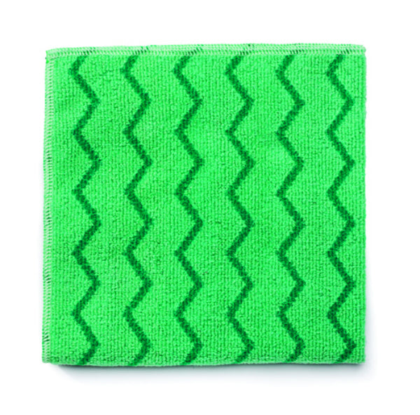 Rubbermaid® FGQ62006GR00 Hygen™ Microfiber General Purpose Cloth, Green, 16""
