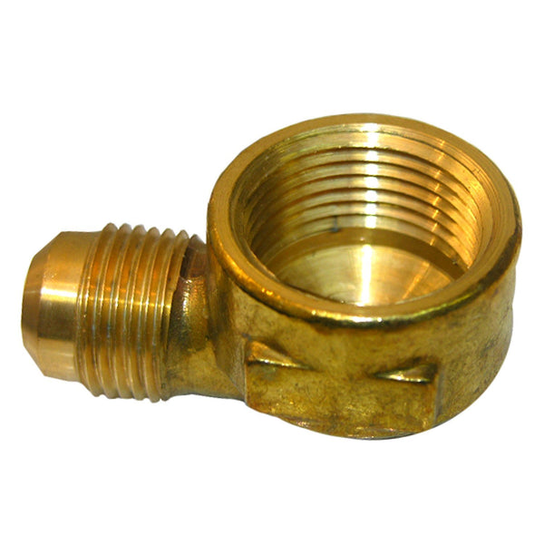 "Lasco 17-5049 Brass 90-Degree Elbow, 1/2"" MFL x 1/2"" FPT"
