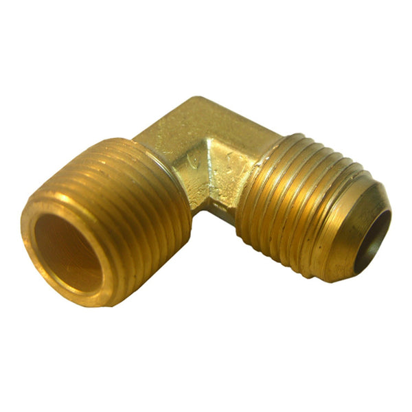 "Lasco 17-4929 Brass 90-Degree Elbow, 3/8"" MFL x 1/4"" MPT"