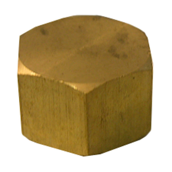 Lasco 17-6187 Lead-Free Brass Compression Cap, 1/2""