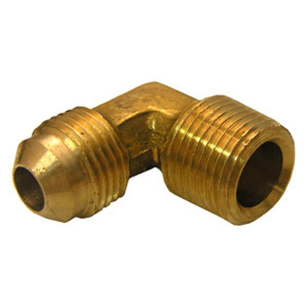 "Lasco 17-4947 Brass 90-Degree Elbow, 1/2"" MFL x 3/8"" MPT"