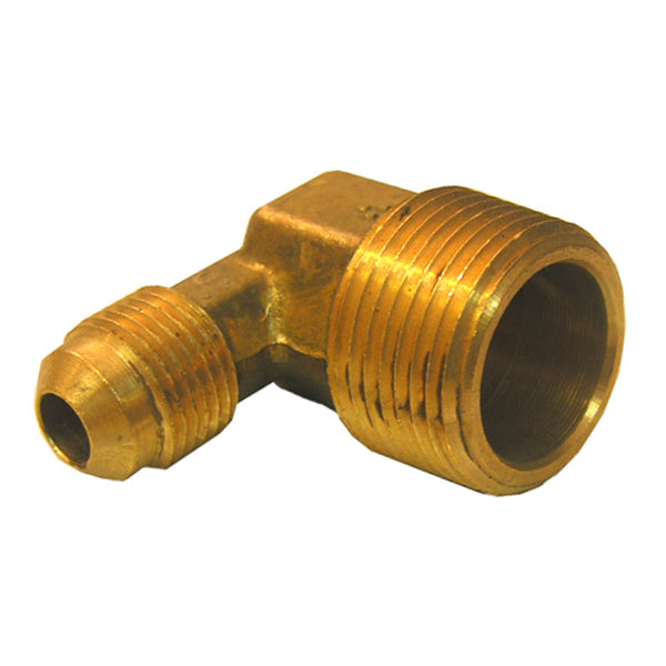 "Lasco 17-4933 Brass 90-Degree Elbow, 3/8"" MFL x 1/2"" MPT"