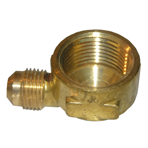 "Lasco 17-5033 Brass 90-Degree Elbow, 3/8"" MFL x 1/2"" FPT"