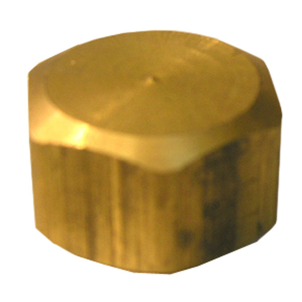 Lasco 17-6189 Lead-Free Brass Compression Cap, 5/8""