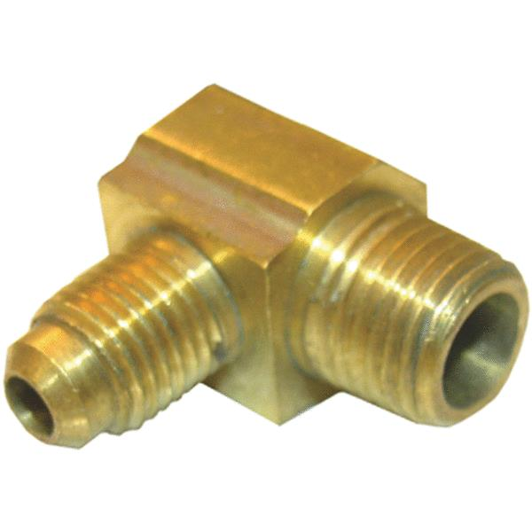 "Lasco 17-4909 Brass 90-Degree Elbow, 1/4"" MFL x 1/8"" MPT"