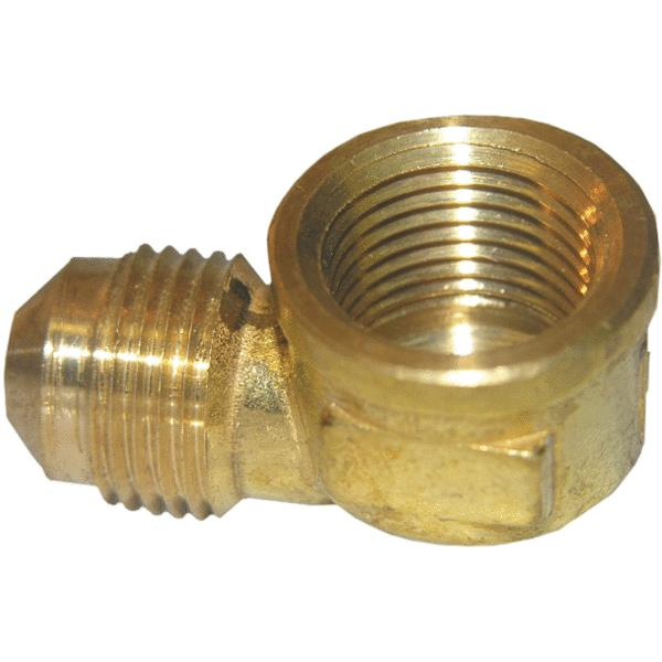 "Lasco 17-5031 Brass 90-Degree Elbow, 3/8"" MFL x 3/8"" FPT"