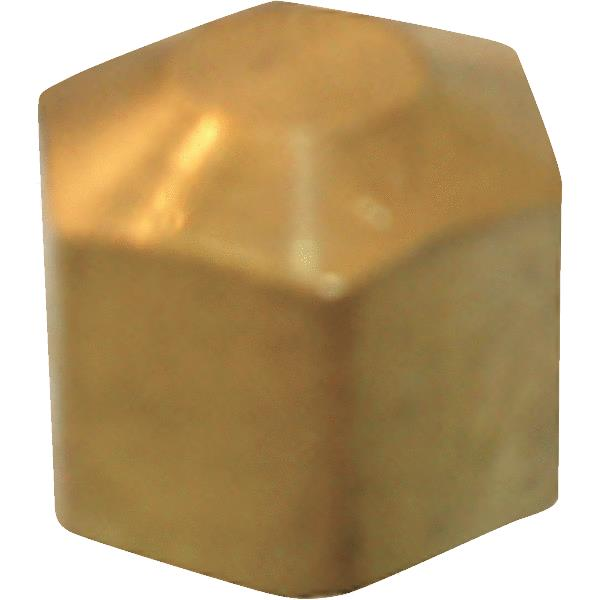 Lasco 17-6185 Lead-Free Brass Compression Cap, 3/8""