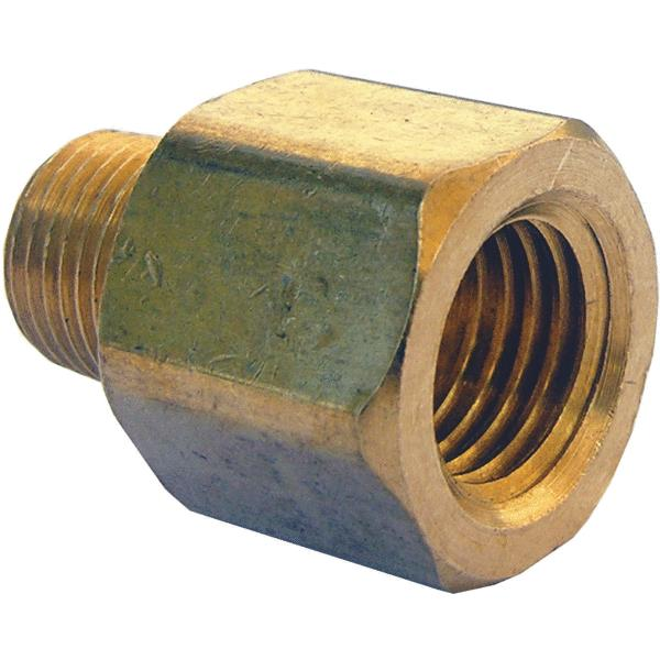 "Lasco 17-6781 Brass Adapter, 1/4"" F FL x 1/8"" MPT"