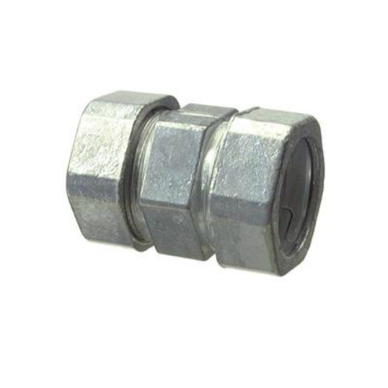 "Halex® 22205B Electrical Metallic Tubing Compression Coupling, 1/2"", Zinc, 45-Pk"