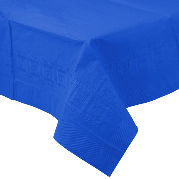 "Creative Converting™ 713147 Paper/Poly Table Cover, Cobalt Blue, 54"" x 108"""