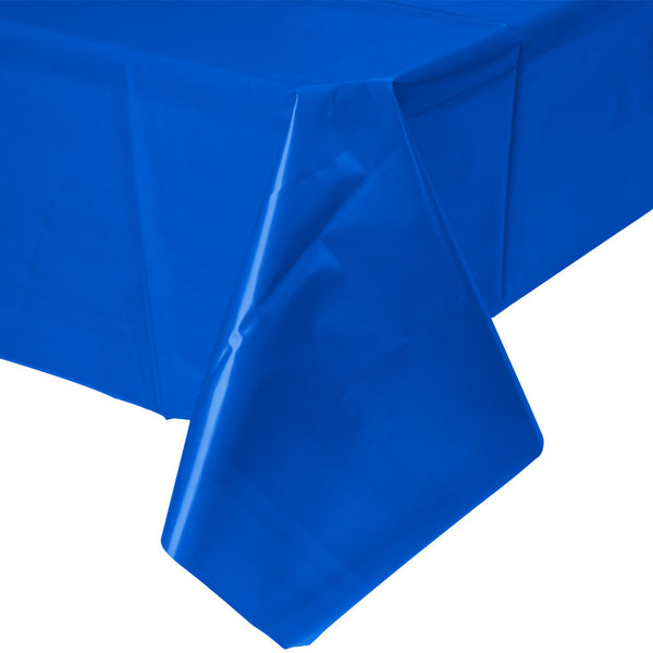 "Creative Converting™ 723147 Plastic Banquet Table Cover, Cobalt Blue, 54"" x 108"""