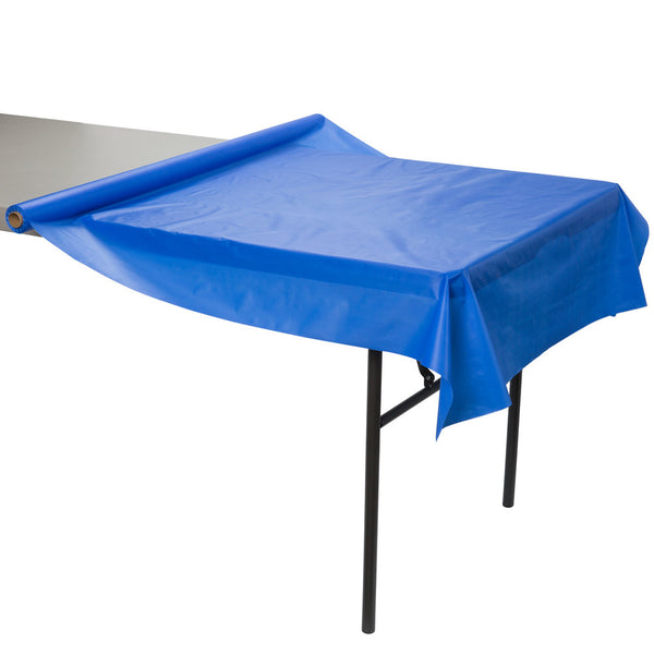 "Creative Converting™ 763147 Plastic Table Cover Roll, Cobalt Blue, 40"" x 100'"