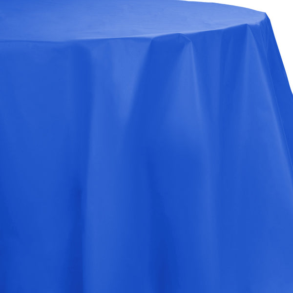 Creative Converting™ 703147 Octy-Round Plastic Table Cover, Cobalt Blue, 82""