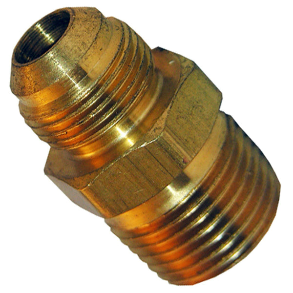 "Lasco 17-4873 Texas-Pattern Brass Flare Adapter, 3/8"" FL x 1/2"" MPT"