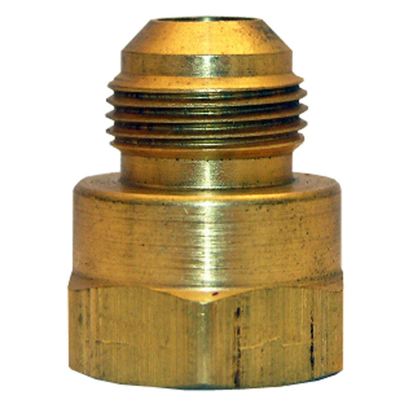 "Lasco 17-4671 Texas-Pattern Brass Flare Adapter, 3/8"" MPT x 3/8"" FPT"