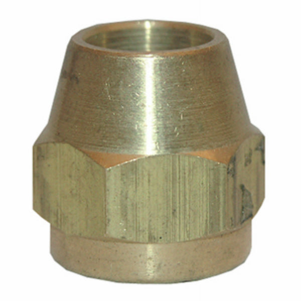Lasco 17-4135 Texas-Pattern Brass Flare Nut, Chrome Plated, 3/8""