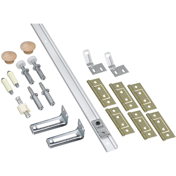 National Hardware® N343-749 Folding Door Hardware Set, White, 72""
