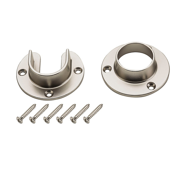 Stanley Hardware® S822-082 Heavy-Duty Closet Flange Set, Satin Nickel
