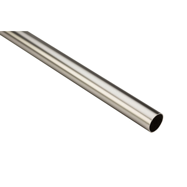 Stanley Hardware® S822-101 Heavy-Duty Closet Rod, Satin Nickel, 8'