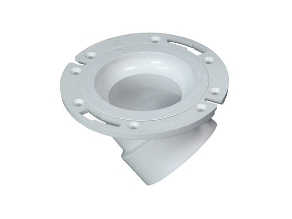 Water-Tite® 86196 45 Degree PVC Closet Flange w/Stainless Steel Metal Ring