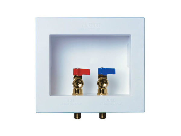 Water-Tite® 82054 DU-ALL™ Dual Drain Washing Machine Outlet Box w/Connection Valve