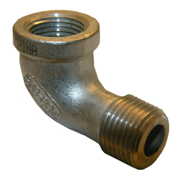 Lasco 32-2505 Type 304 Stainless-Steel 90-Degree Street Elbow, 3/8""