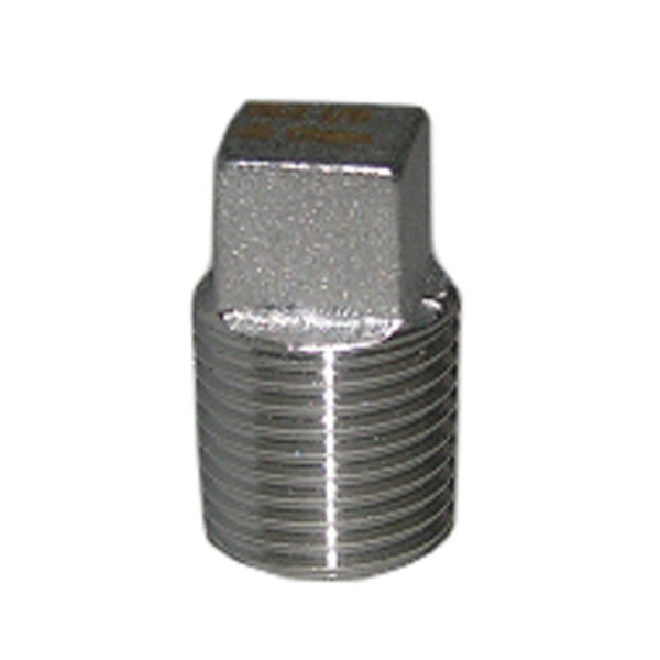 "Lasco 32-2981 Type 304 Stainless-Steel Square Head Pipe Plug, 1/8"" MPT"