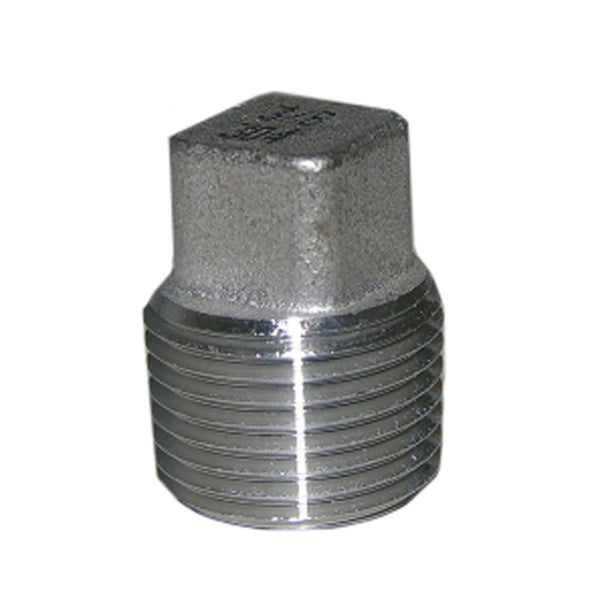 "Lasco 32-2985 Type 304 Stainless-Steel Square Head Pipe Plug, 3/8"" MPT"