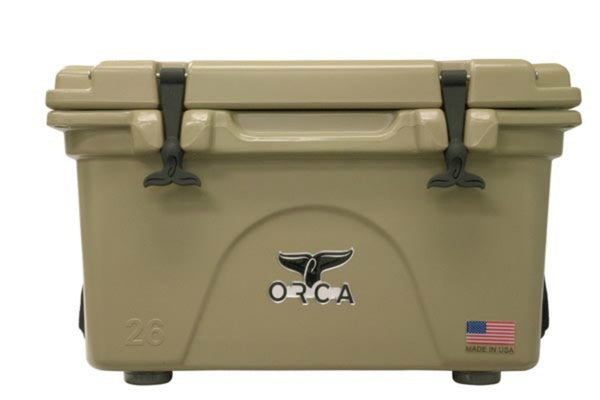 ORCA® ORCT026 Durable Roto-Molded Cooler, Tan, 26 Qt Capacity