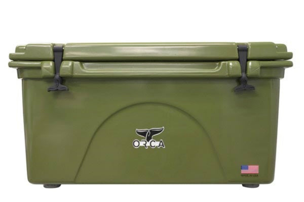 ORCA® ORCG075 Durable Roto-Molded Cooler, Green, 75-Qt Capacity