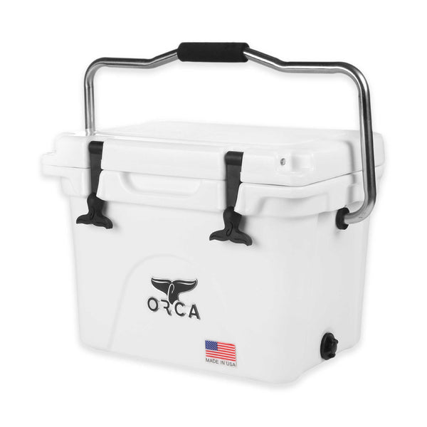 ORCA® ORCW020 Durable Roto-Molded Cooler, White, 20-Qt Capacity
