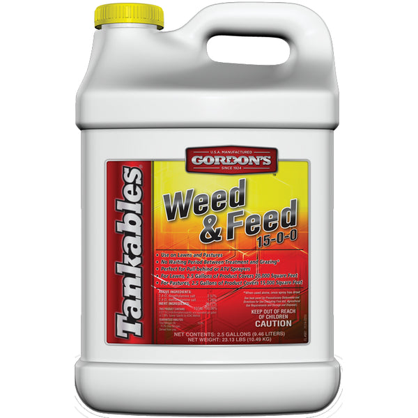 Gordon's® 7171120 Tankables® Weed & Feed Lawn Fertilizer, 15-0-0, 2.5 Gallon