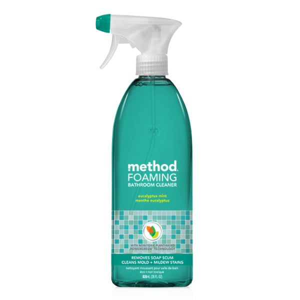 Method® 01656 Foaming Bathroom Cleaner, Eucalyptus Mint, 28 Oz