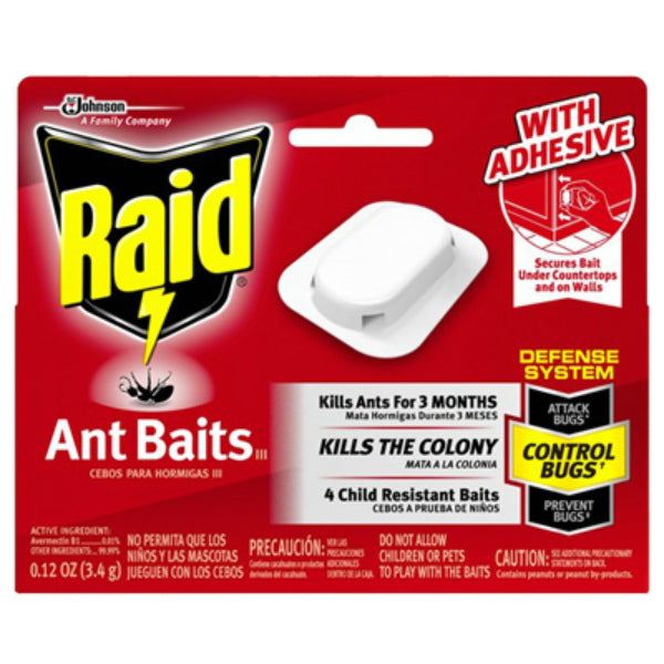 Raid® 76746 Ant Baits III with Adhesive Strips, 4-Pack